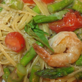 Shrimp & Asparagus Pasta.