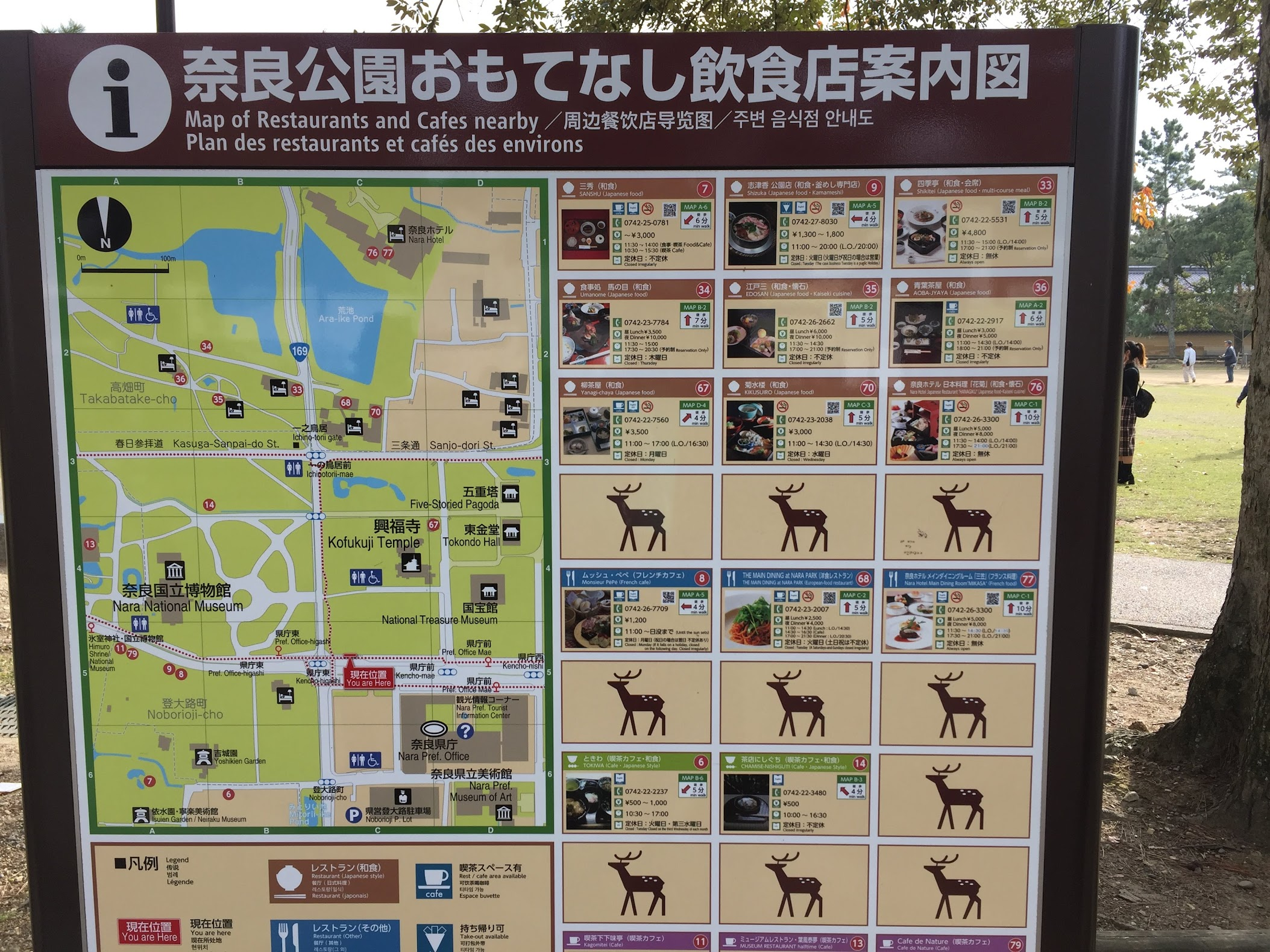 Peta daerah Nara
