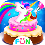Unicorn Frost Cakes - Rainbow Cake Bakery Games