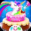 Cooking Unicorn Rainbow Cake- Food Game for girl