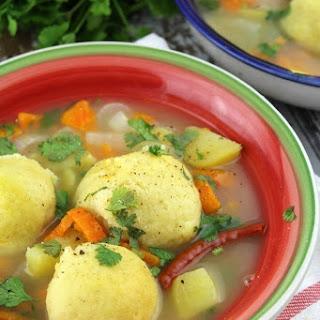 Mexican Masa Ball Soup (Corn Dumplings in Chicken Soup).