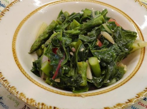 """Quick Tasty Red Swiss Chard with Asparagus """"To date, this is the..."""