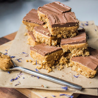 Peanut Butter And Chocolate Biscuit Squares