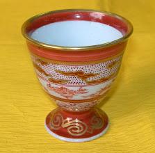 写真: 色画馬上杯 ロクロ:幸春:絵付け幸誠  掲載作品のお問い合わせは ℡/FAX 098-973-6100でお願致します。