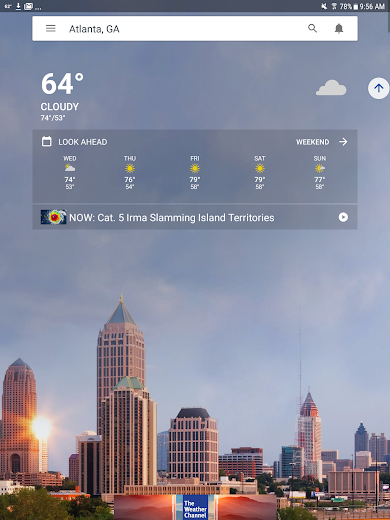 Screenshot 8 for The Weather Channel's Android app'
