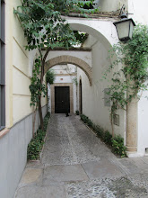 Photo: A walkway to a Spanish home.