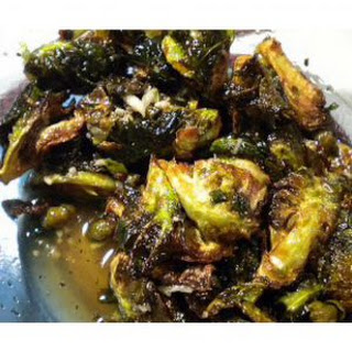 Fried Brussels Sprouts with Honey Sriracha Glaze Recipe