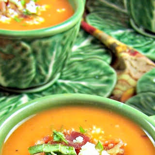Butternut Squash and Roasted Red Pepper Soup.
