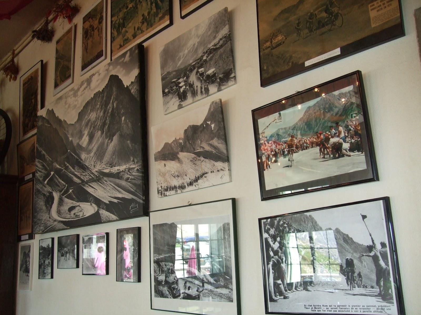 Climbing up Col du Tourmalet on bike - inside restaurant at the top
