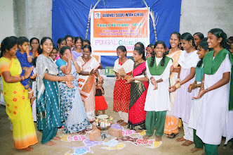 Photo: Our young women at the rural CTC celebrating at the local harvest festival