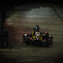 Karting in gold by Vix Paine - Transportation Other ( go kart, fast, race, car, karting, helmet, kart, track, inside, cart, speed, transportation,  )