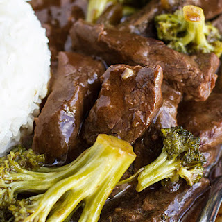 Easy Slow Cooker Beef And Broccoli.