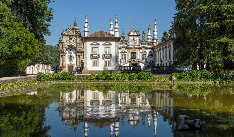 Mateus Palace, built in the 1700s in Vila Real, Portugal, is visited on some Douro River Cruises.