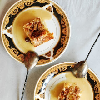 White Chocolate Bread Pudding With Cream Sauce – Made With Whiskey And Creme De Cacao.