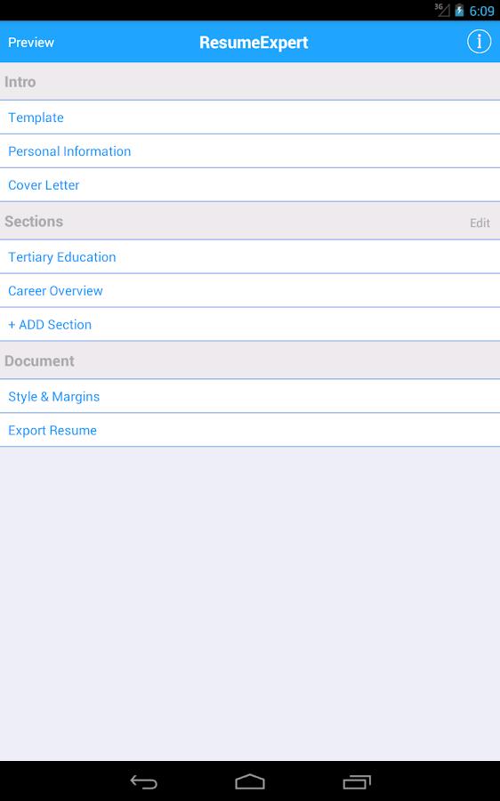 resume maker pro cv writer designer builder screenshot