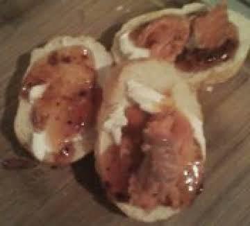 Chipotle-Mango, Smoked Salmon Crostini
