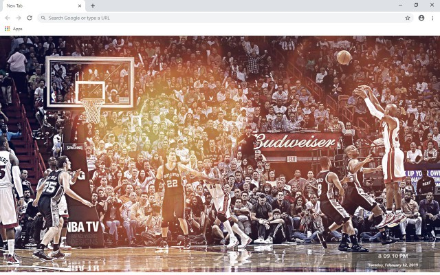 Ray Allen New Tab & Wallpapers Collection