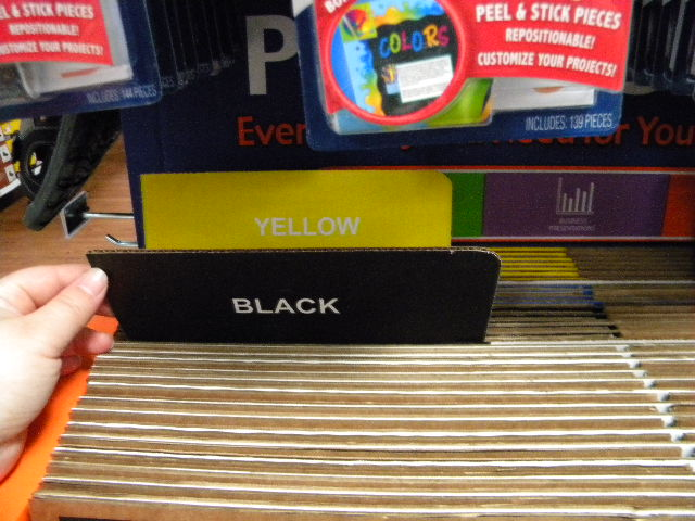 Photo: The end cap had Black and Yellow...