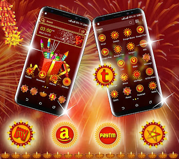 Diwali Crackers Launcher Theme - náhled