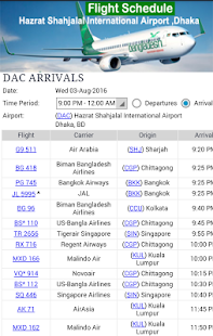 Dhaka Airport Flight Time- screenshot thumbnail