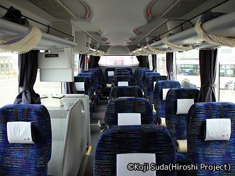 北海道中央バス「高速はこだて号」 3947 車内