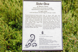 Photo: Plaque with info on Sister Orca