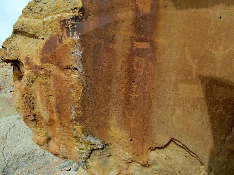 Photo: Weathered portion of split boulder panel
