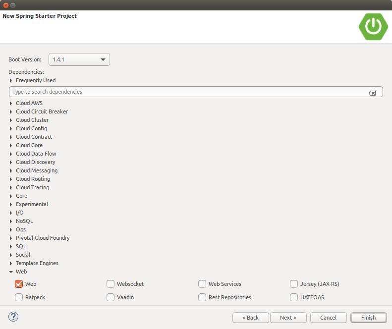 Spring Boot Web Demo Project Dependencies