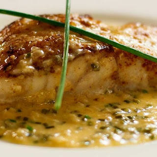 White Fish with Beurre Blanc Chive Sauce.