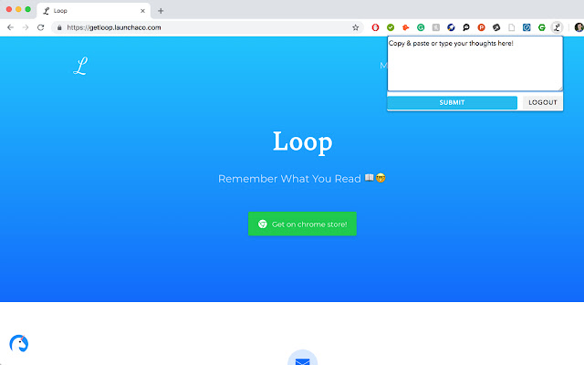 Loop: A newsletter from yourself