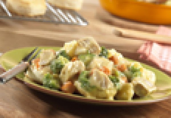 Two-step Inside-out Chicken Pot Pie Recipe
