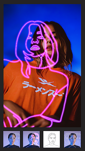 Instasquare Photo Editor: Drip Art, Neon Line Art 2.1.8 Screenshots 1