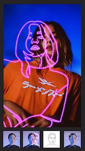 Instasquare Photo Editor: Drip Art, Neon Line Art 2.1.9 (Pro)