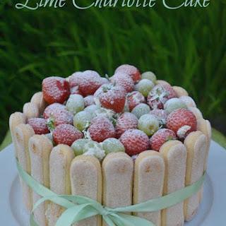 Lime Charlotte Cake #Bakeoftheweek