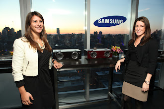 Photo: Checking out the new Samsung DA-E750 Audio Dock at the Samsung Audio launch event in NYC.   http://www.samsung.com/us