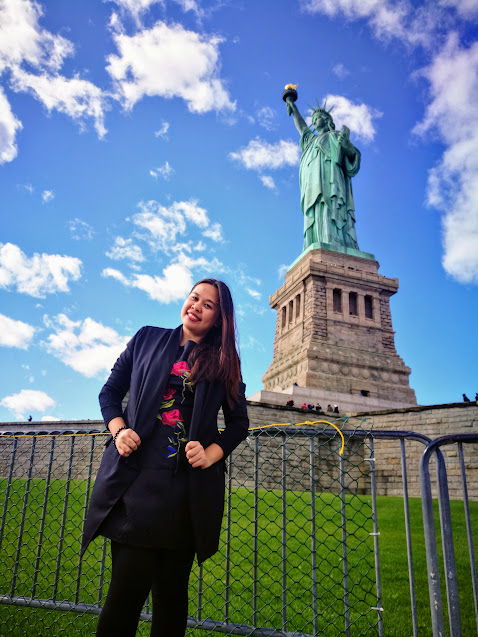 me at the Statue of Liberty. New York
