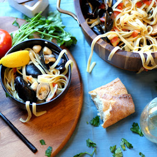 Pasta With Mussels And Scallops Recipes.