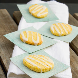 Cornmeal Cookies with Lemon Icing