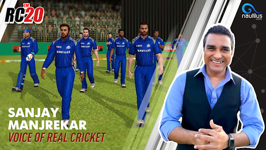 Real Cricket 20 3.6 Apk + Mod (Unlocked) + Data for Android FREE 1