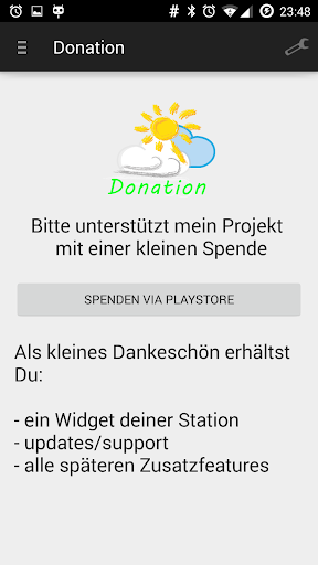 Mein WeatherLink Donation