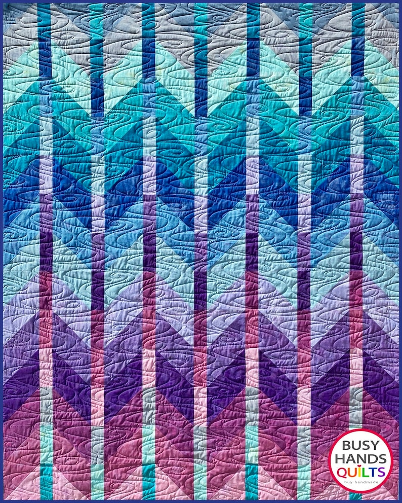 6. Ombre Mountains Pattern