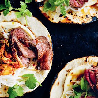 Spicy Korean Steak Tacos with Kimchi recipe | Epicurious.com.