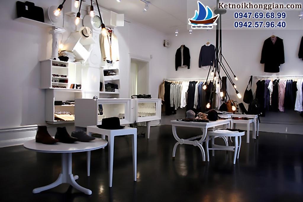 thiết kế cửa hàng thời trang nam với nội thất phù hợp và không gian đẹp