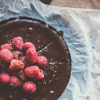 Chocolate Raspberry Truffle Tart.