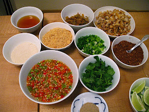 Photo: ingredients for spicy Ayuthaya-style noodles