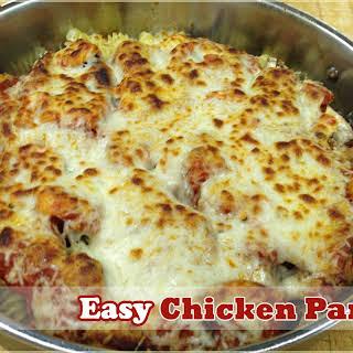 Easy Chicken Parmesan.