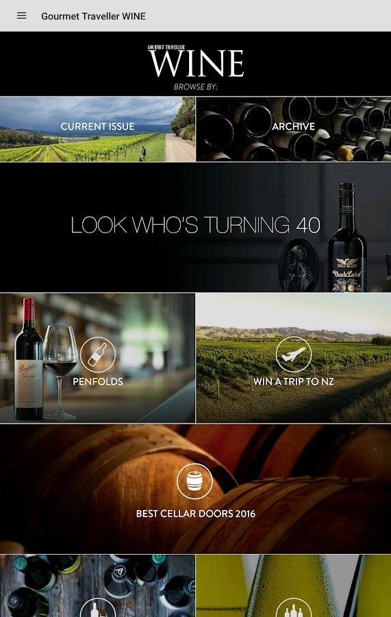 Gourmet Traveller WINE- screenshot