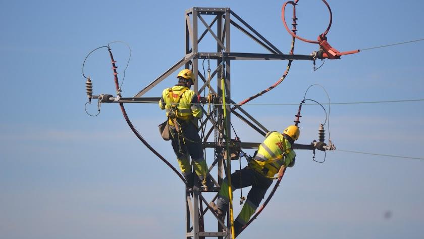 Trabajos en la red de Endesa para mejorar sus prestaciones