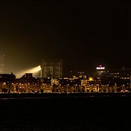 Mumbai skyline at night by Hariharan Venkatakrishnan - City,  Street & Park  Skylines