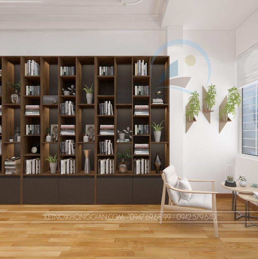 thiết kế phòng đọc sách kết hợp phòng làm việc và phòng học 8